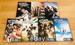 ATTACK ON TITAN 1-22 Manga Collection Complete Set Run Volumes ENGLISH RARE