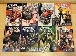 ATTACK ON TITAN 1-25 Manga Set Collection Complete Run Volumes ENGLISH RARE