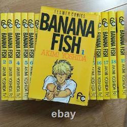 BANANA FISH Akimi Yoshida vol. 1-19 Complete set Comics Manga anime USED Yellow