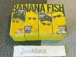 BANANA FISH Comic Book Reprinted Box Vol. 1-4 Complete Set
