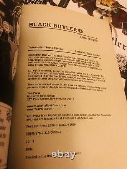BLACK BUTLER 1-11 + 13-15 Manga Collection Complete Set Run Volumes ENGLISH RARE
