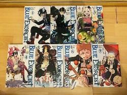 BLUE EXORCIST 1-15 Manga Set Collection Complete Run Volumes ENGLISH RARE
