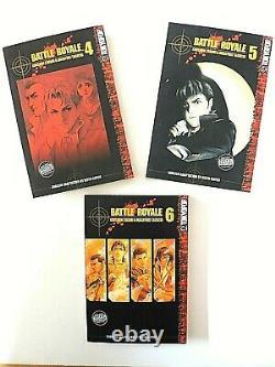 Battle Royale English Manga Complete Set Vol. 1-15 OOP Tokyo Pop Ships Next Day