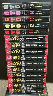 Great Teacher Onizuka GTO Early Years English Manga Vol 1-15 Complete OOP Rare