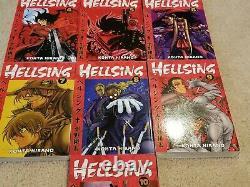 Hellsing Manga Complete Series Set 1-10 English Dark Horse 1st Edition UNREAD