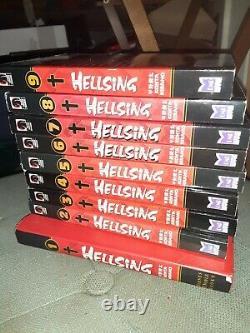 Hellsing Manga Lot Volumes 1-9 Near Complete English Collection HC Vol 1 OOP