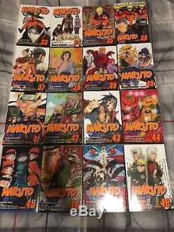 Naruto Complete Series 1-72 (73 With Hokage Volume) + Boruto Vol 1 Manga Lot Set